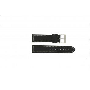 Davis pulseira de relógio BB1020 Couro Preto 22mm