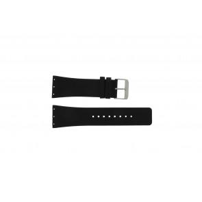 Danish Design pulseira de relógio IQ12Q641 / IQ12Q767 / IQ14Q641 / IQ13Q641 Couro Preto 28mm