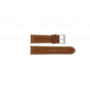 Davis pulseira de relógio BB0451.24L Couro Castanho claro 24mm