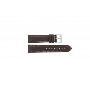 Davis pulseira de relógio BB1021 / BB1023 Couro Castanho escuro 22mm