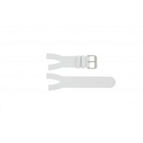 Davis pulseira de relógio BB1401 Couro Branco 30mm