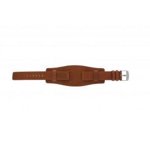 Davis pulseira de relógio B0222 Couro Conhaque 18mm