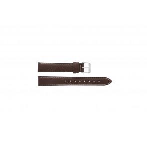 Davis pulseira de relogio B0908 Couro Marrom 18mm