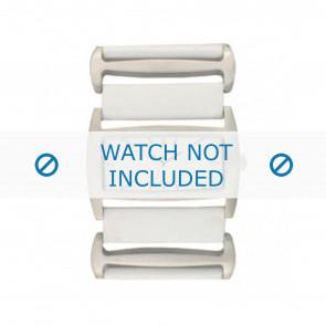 Davis pulseira de relogio BB0755 Couro Branco 36mm