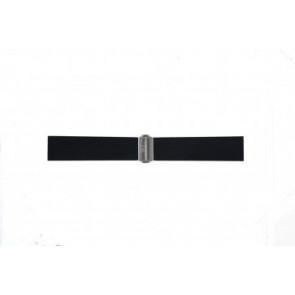 Pulseira de relógio Davis BB0881 Borracha Preto 22mm