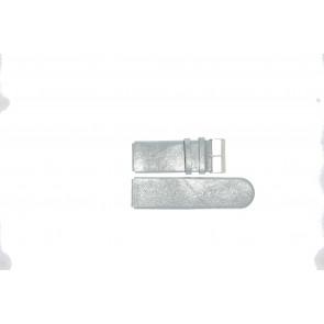 Jacques Lemans pulseira de relogio DC-218 Couro Cinza 26mm