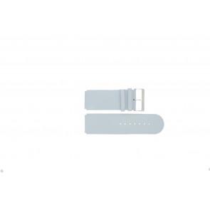 Jacques Lemans pulseira de relogio DC218 / LBL Couro Azul claro 26mm
