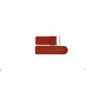 Jacques Lemans pulseira de relogio DC-218 / RE Couro Vermelho 26mm