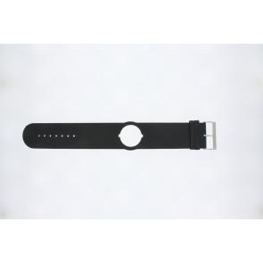 Jacques Lemans pulseira de relogio DC500 Couro Preto