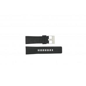 Diesel pulseira de relogio DZ1207 Couro Preto 26mm
