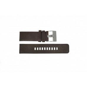 Diesel pulseira de relógio DZ-1467 Couro Castanho 24mm