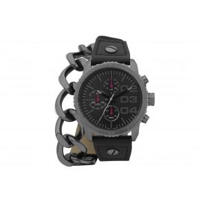 Pulseira de relógio Diesel DZ5309 Couro Preto 22mm