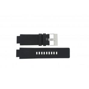 Pulseira de relógio Diesel DZ1089 / DZ1186 / DZ1091 / Couro Preto 18mm