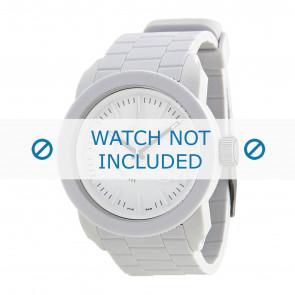 Diesel pulseira de relogio DZ1436 / DZ1439 / DZ1437 / DZ1438 Silicone Branco 24mm