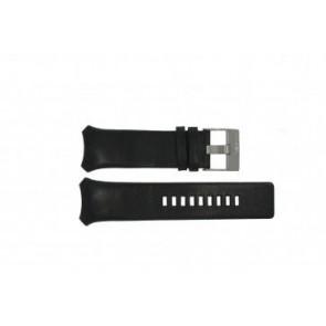Diesel pulseira de relógio DZ-3034 / DZ-3035 Couro Preto 31mm