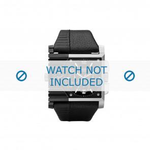 Diesel pulseira de relogio DZ4185 Couro Preto 37mm