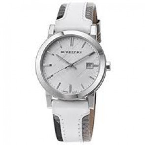 Pulseira de relógio Burberry BU9019 Couro Branco