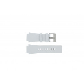 Diesel pulseira de relogio DZ1449 Couro Branco 25mm
