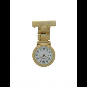 Relógio de enfermeira para unisex  E968 Aço Dourado
