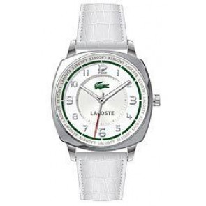 Pulseira de relógio Lacoste 2000598 / LC-47-3-14-2233 Couro croco Branco 18mm
