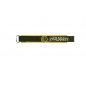 Esprit pulseira de relogio ES101333002U Velcro Verde 16mm + costura marrom