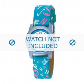 Esprit pulseira de relogio 000FA4 / 000FA4029 / ES000FA4-40BL Couro Azul