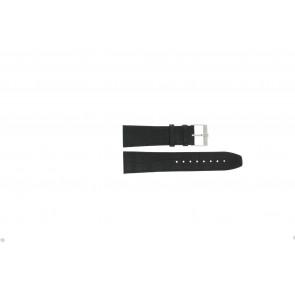 Jacques Lemans pulseira de relogio FC29 / 9-201 Couro Preto 23mm + costura preto