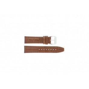 Festina pulseira de relógio F16081/8 Couro Castanho 22mm + costura marrom