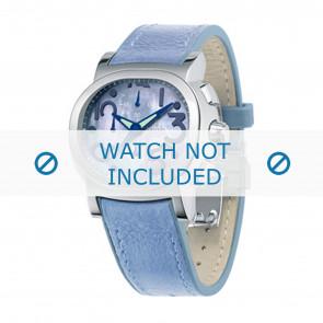 Festina pulseira de relogio F16125.2 Couro Azul 23mm + costura azul