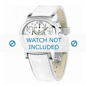 Festina pulseira de relogio F16125.7 Couro Branco 23mm + costura branca