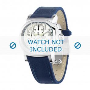 Festina pulseira de relogio F16125.1  Couro Azul 23mm + costura azul
