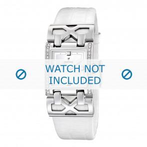 Pulseira de relógio Festina F16465-1 / F16465-4 Couro Branco 23mm