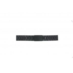 Fossil pulseira de relogio FS4775 Metal Preto 22mm