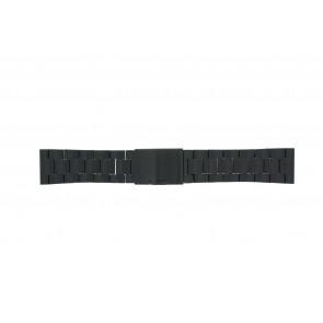 Fossil pulseira de relogio FS4552 / FS4718 / FS4719 / JR1356 Metal Preto 24mm