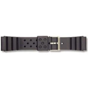 Pulseira de relógio Universal P70 Borracha Preto 22mm