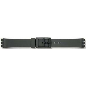 Swatch pulseira de relogio P38 Borracha / plástico Preto 12mm