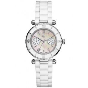 Pulseira de relógio GC35003L Cerâmica Branco 18mm