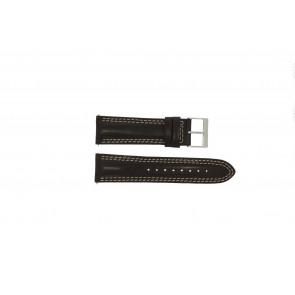 Guess pulseira de relógio W95046G2 Couro Castanho 24mm