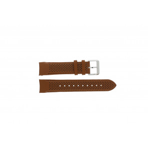 Hugo Boss pulseira de relogio HB-188-1-14-2672 / HB1513118 Couro Conhaque 22mm + costura marrom