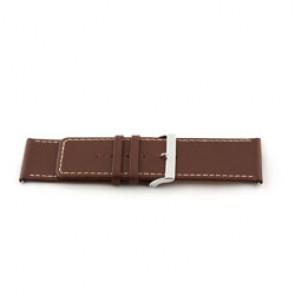 Bracelete em pele genuína castanha 34 mm EX-J43