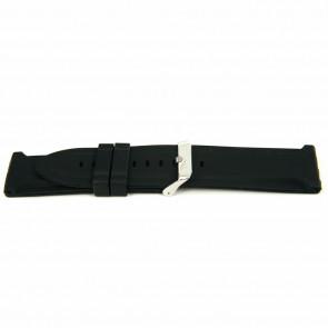 Pulseira de relógio Borracha 26mm Preto EX K63 26 2 26
