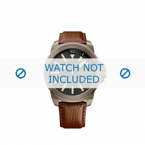 Hugo Boss pulseira de relogio HB-238-1-34-2757 / 1513168 / Orange Couro Marrom 24mm + costura marrom