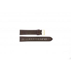 Pulseira de relógio Hugo Boss HB-334-1-34-3114 / HB1513640 / HB659302886 Couro Marrom 20mm