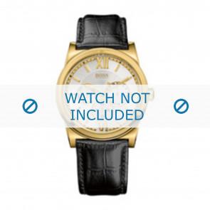 Hugo Boss pulseira de relogio 1512590 / HB-127-1-34-2301 / HB659302290 Couro Preto 23mm + costura preto