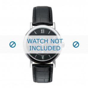 Hugo Boss pulseira de relogio HB-24-1-14-2034 / HB1512093 / HB1512092 Couro Preto 20mm + costura preto