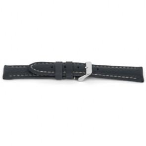 Pulseira de relogio G080 XL Couro Cinza 20mm + costura branca