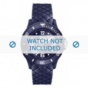 Ice Watch pulseira de relogio 007271 Couro Azul 20mm + costura padrão