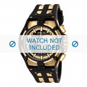 Invicta pulseira de relogio 0639.01 Borracha / plástico Preto