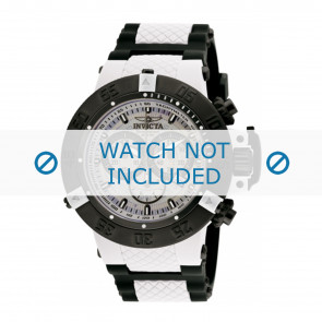 Invicta pulseira de relogio 0933 Borracha / plástico Branco 29mm