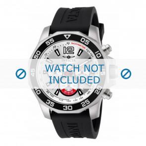 Invicta pulseira de relogio 7430 Borracha Preto 22mm